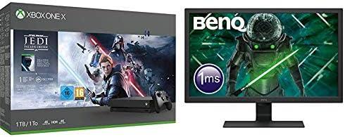 Microsoft - Consola 1 TB, Mando Inalámbrico + Star Wars Jedi ...