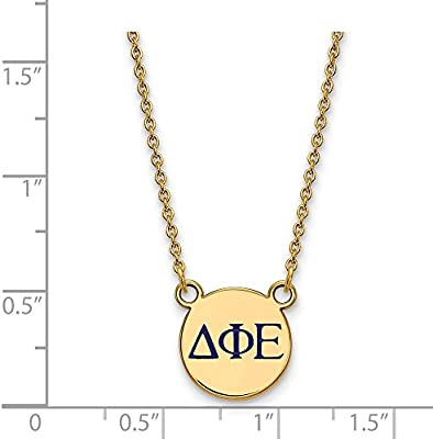 Solid 925 Sterling Silver Delta Delta Delta Extra Small Enl Pendant with Necklace 12mm