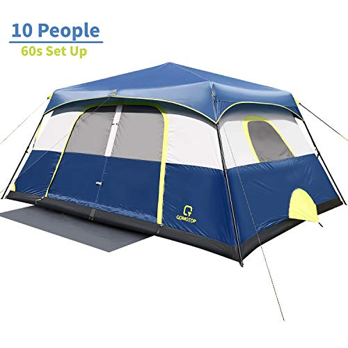 QOMOTOP 10 People Fast 60 Seconds Easy Set Up Instant Cabin Tent