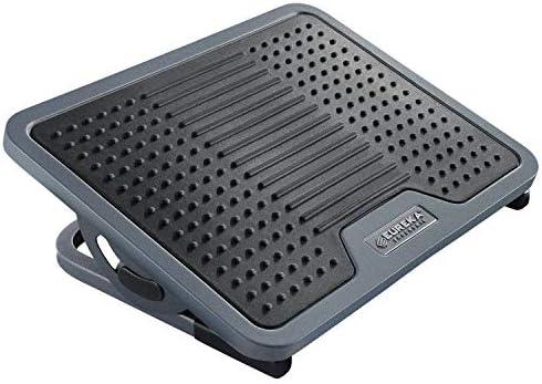 [해외]EUREKA Ergonomic 발판 경사 조절이 가능한 마사지 표면 블랙 & 그레이 / EUREKA Ergonomic Footrest Tilt Adjustable Massage Surface Black & Grey