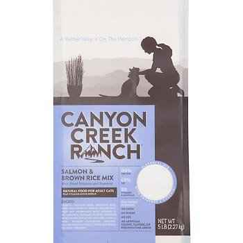 Canyon Creek Ranch Natural Salmon and Brown Rice Dry Cat Food, 5 lbs., My Pet Supplies