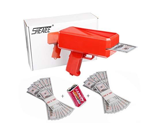 Make It Rain Gun Cash Gun Super Gun Spray Gun, Suitable for Weddings, Party, Birthdays, Marketing, Nightclubs etc Party Games (Best Spray Gun For The Money)