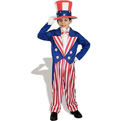 Uncle Sam Kids Costume - Medium