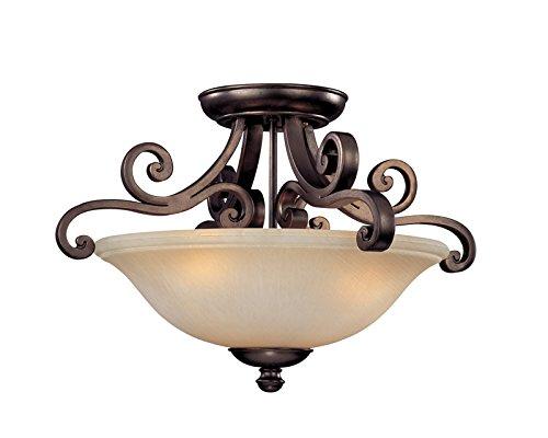 (Dolan Designs 1085-207 3Lt Deep Bronze Brittany 3 Light Semi Flushmount,)