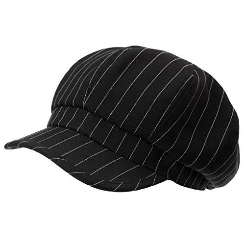 Casual Summer Spring Newsboy Caps Striped Print Cotton Adjustable Berets Hats