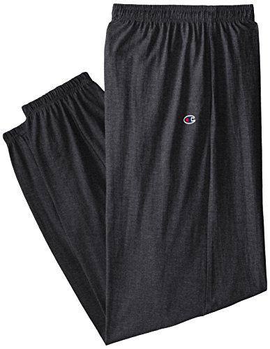 Jersey Workout Pant - Champion Men's Big and Tall Big & Tall Closed Bottom Jersey Pant, Charcoal Heather 3X