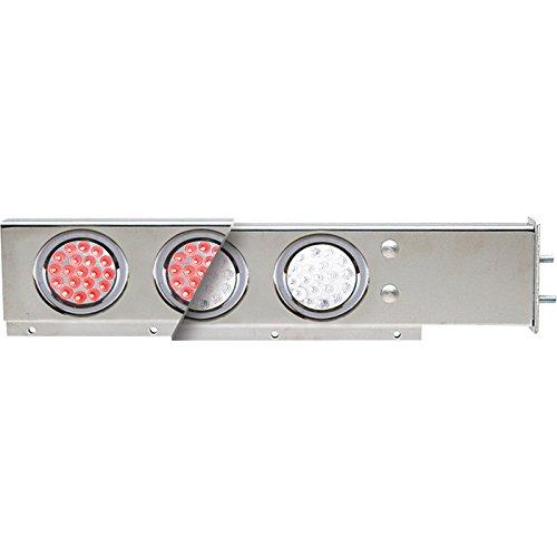TRUX Accessories Flat Top Mud Flap Hanger Light Bars with Dual Color LEDs — Pair, Model# TU-9210L2 (Led Mud Flap)
