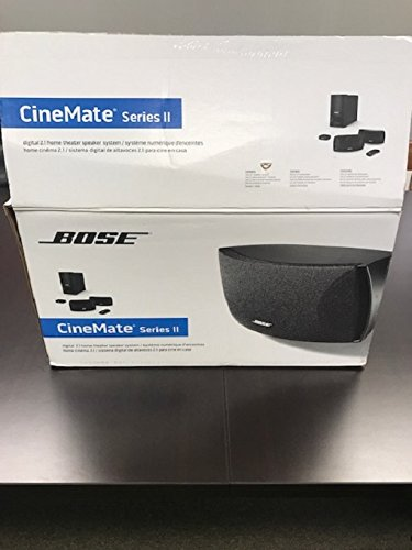 Bose CineMater Series ll 2.1-Channel Home Theater System Digital 5.1 Decoding 3D-Compatible, Black