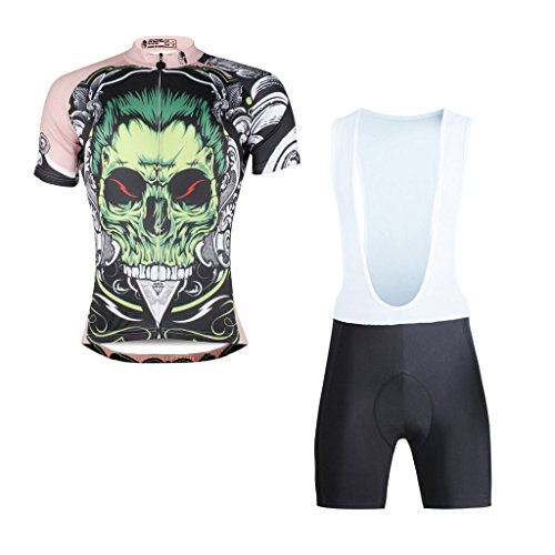 paladinsport-skull-pattern-mens-short-sleeve-bicycle-apparel-and-cycling-bib-shorts-set-size-xxxl