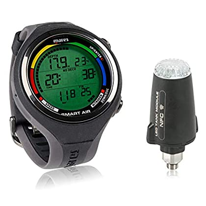 Image of Mares Smart Air Dive Computer Wrist Watch with or Without LED Transmitter