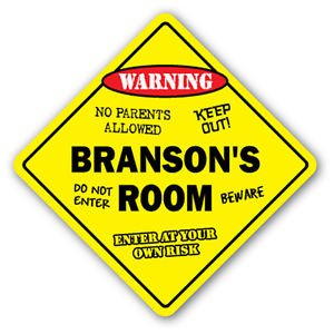 BRANSON'S ROOM Sticker Sign kids bedroom decor door children's name boy girl - Kids Branson For