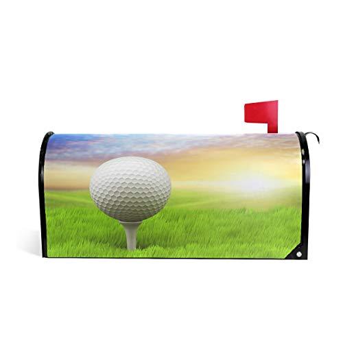ALAZA Evening Golf Mailbox Cover Standard Size-18