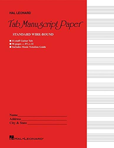 (Guitar Tablature Manuscript Paper - Wire-Bound)
