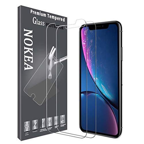 NOKEA Screen Protector Compatible with iPhone Xs Max, [2 Pack] HD Clear Touch Accurate Tempered Glass Anti-Scratch Bubble-Free Case Friendly Screen Protector (for iPhone Xs Max)