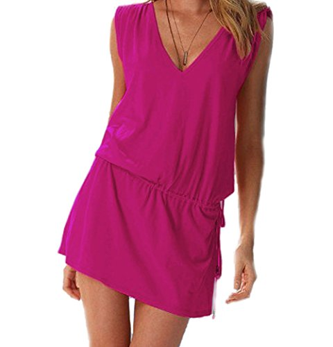 V Skirt Bikini Caldo Aperto Le Rosa up Butterme Beach Dress Cover A Scollo Donne back Profondo Cover Estate Up ZfzXp