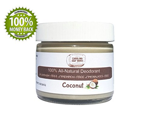 Best Organic & Natural Deodorant for Men, Women, and Teens to Keep You Dry and Fight Odor, Lasts All Day, 60 Day Supply, Aluminum Free, Paraben Free, Coconut, 2 Oz. Jar