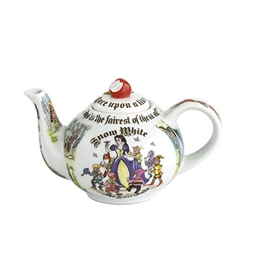 Cardew Design Snow White 2 Cup Teapot with Red Apple Lid, 18 oz, Multicolor