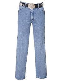 Men's 13Mwz Jeans Cowboy Cut Original Fit Prewashed Antique Blue 33W x 36L