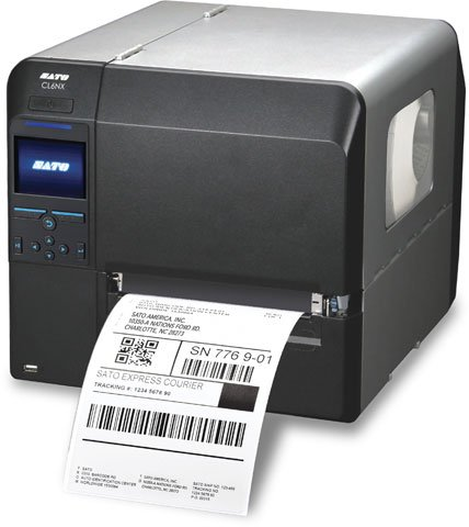 (Sato WWCL90061 Series CL6NX Industrial Thermal Transfer Printer, 203 dpi Resolution, 6.5
