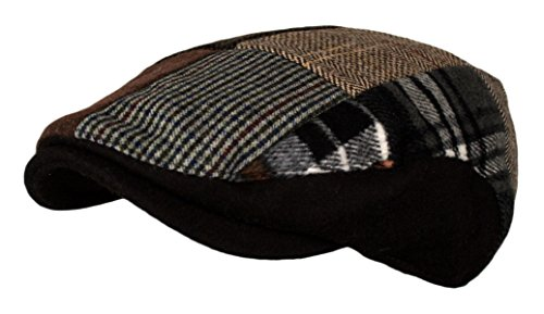 c18aadf6186 PoPoShop6 Men s Multi Pattern Patchwork Wool Blend Newsboy Ivy Golf Hunting  Hat