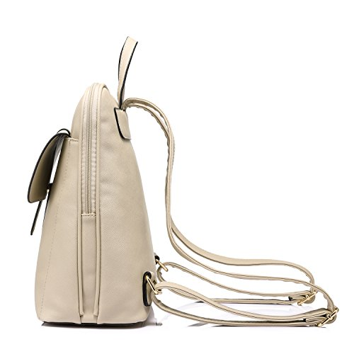 Girls Shape Coral Travel Bucket Bag Khaki for Large School Capacity Purse Backpack qwpTEF