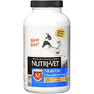Nutri-Vet Multi-Vite Chewables for Adult Dogs | Formulated with Vitamins & Minerals to Support Balanced Diet | 180 Count