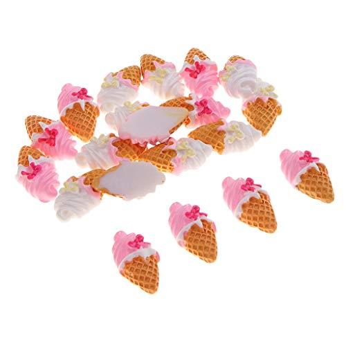 CUTICATE 20pcs Ice Cream Resin Flatback Embellishment Beads for Halloween Party Decorations, Kindergarten Handmade DIY Crafts]()