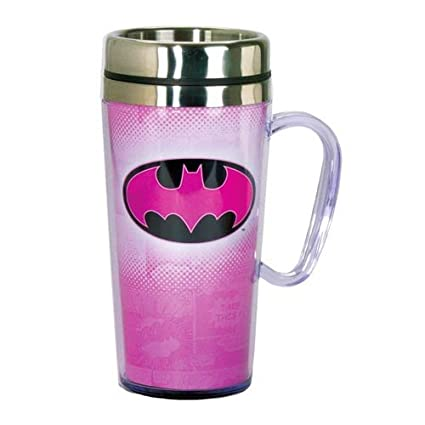 Travel With Insulated Batman Handle Pink Mug nvOm0N8w