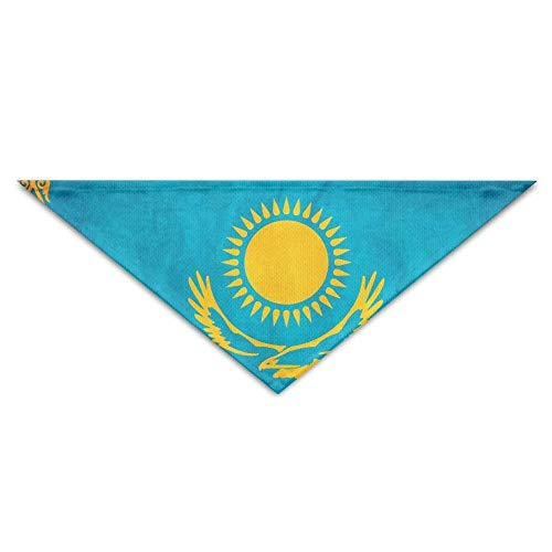 Mewisx Old Kazakhstan Flag Dog Bandanas Scarves Bibs Scarfs Unique Basic Dogs Neckerchief Cat Collars Pet Costume Accessory Kerchief Large&Medium&Small Puppy for $<!--$11.99-->