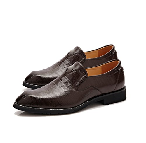 DHFUD Hommes Chaussures Mode Tip Pompes Brown 4PRZT914