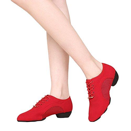 禁輸馬鹿かなりのダンススニーカー ダンスシューズ フィットネスシューズ ジャズダンス 美脚 メッシュ レディースシューズ 通気性 練習用 女性用 靴