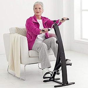 41K9KINArZL. SS300 BAKAJI Pedaliera Allenamento Braccia Gambe Cyclette Cycle Bike Ginnastica Passiva Esercizio Fitness Riabilitazione Anziani