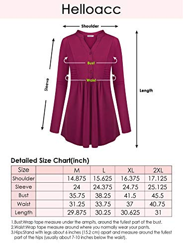Helloacc Aline Tunic Tops for Women,Long Shirts for Plus Women Fitted Loose Tees Cowl Office Lady Suit V-Neck Ruched Slimming T-Shirt Business Casual Blouses Cutout Latest Fashion Oversized Blue 2X by Helloacc (Image #5)'