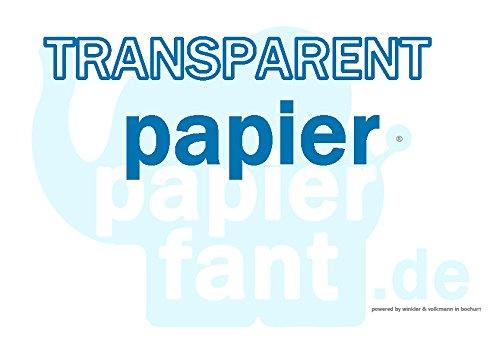 stabiles Transaprentpapier, A4 anschauen