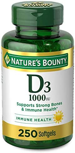Vitamin D by way of Nature's Bounty for immune toughen. Vitamin D supplies immune toughen and promotes wholesome bones. 1000IU, 250 Softgels