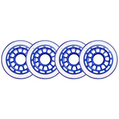 Clear/Blue Inline Skate Wheels 76mm 78a 4-Pack : Sports & Outdoors