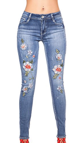 Jeans My Christy bleu Bleu Femme n8nvX0T