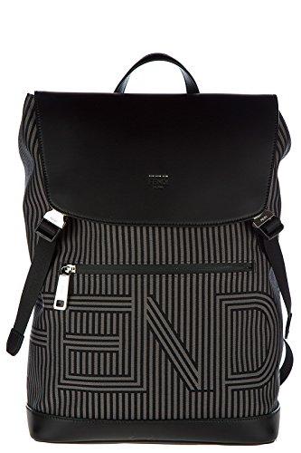 Fendi men's Nylon rucksack backpack travel optical black