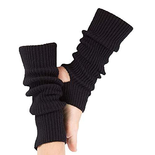 Gestrickt Beinwärmer,Beinwärmer Stricken Beinstulpen für Das Yoga-Tanzen,Das Turnhalle Ausübt,Halten Warm Schwarz