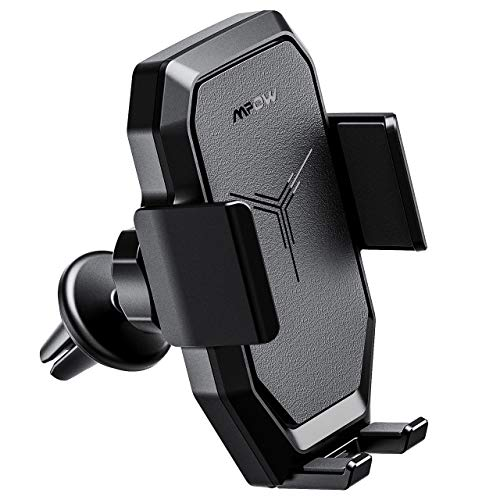 Mpow Wireless Car Charger, Car Phone Mount Car Mount Air Vent Phone Holder, Fast Charge for Samsung Galaxy,Standard Charge for Phone XS/S/XS Plus, iPhone 8/8 Plus and Qi Enabled Devices