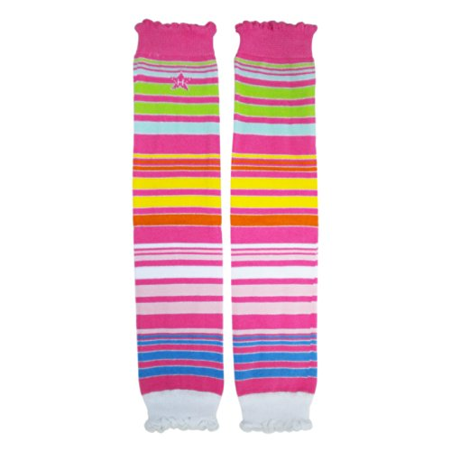 - Huggalugs Girls Leg Warmers Candy Sparkle Stripes