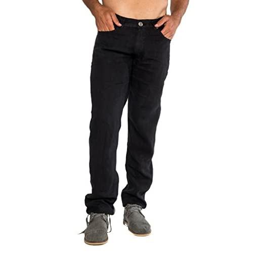 Claudio Milano Men's 100% Classic 5 pockets Straight Legs Pants for cheap