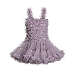 Lemail wig Little Girls Tulle Ballet Dance Leotard Tutu Skirt Tiered Princess Dress