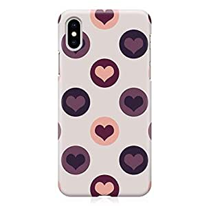 Loud Universe Wrap Around Edges Case For iPhone XS Max Valentines Day Couples Love Heart Pattern Sleek Design Heavy Duty Rugged iPhone Cover
