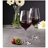 VENTUOS Wine Glass - Ideal for White or Red Wine Glass, 400 ml, Set of 2