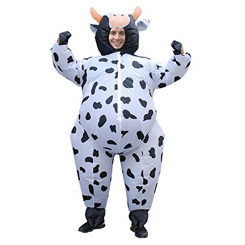 Cosplay Inflatable Blow Up Cow Halloween Costume Christmas Birthday Party Outfit Fun Full-body Suit,150-190cm ()