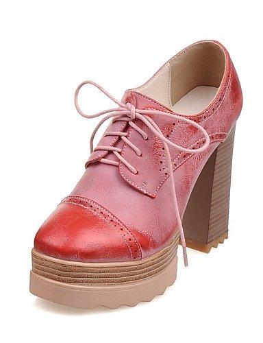 Pink Tacón 5 Zapatos 5 De Njx Uk8 5 Vestido Tacones Hug Robusto Cn43 Mujer us10 Eu42 Semicuero Eu4 Redonda Red Casual amarillo Noche Fiesta us10 Rosa Punta Y I5qTw