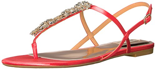 Badgley Mischka Women's Tate Dress Sandal, Strawberry, 9 M US by Badgley Mischka