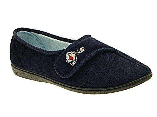 Foster Footwear - Sandalias con cuña mujer Ida:Navy