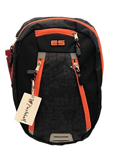 Pickleball Marketplace | ''Absolute Sport Backpack - New - With a perfect mix of size, durability and Carries Paddles and Pickleball Gear - Black & Orange Snake Print by Pickleball Marketplace